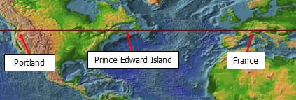 latitude of Prince Edward Island