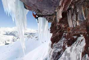 ice climbing in the Pyrenees